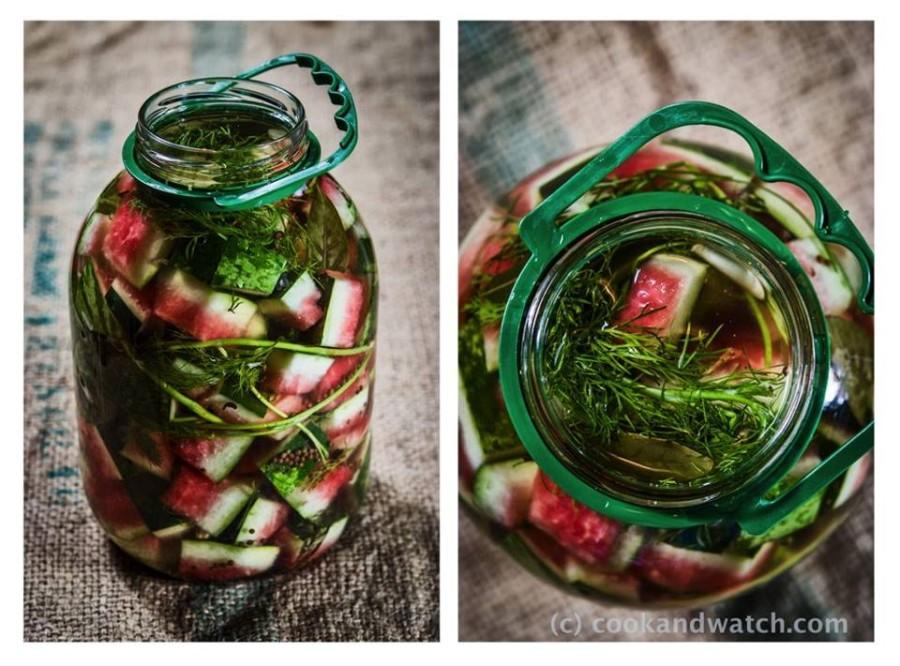 Skórki arbuza kiszone